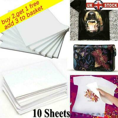 10X A4 Heat Transfer Paper for T-Shirt Painting Iron-On Paper DIY Light Fabric