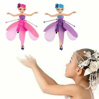 Cute Flying Fairy Princess Dolls Magic Infrared Induction Control Toy Xmas Gift@