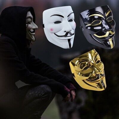 Halloween Mask Anonymous Hacker Vendetta Guy Face Adult For Fancy Party Cosplay