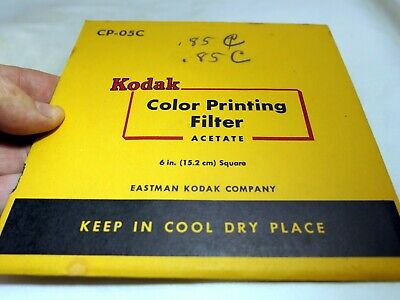 "KODAK Color Printing Lens Filter 6X6"" gelatin square CP-05C Light Blue 85C"