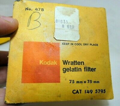 "KODAK Wratten Gelatin Lens Filter 3X3"" square 47B light Green"