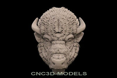 3D Model STL for CNC Router Engraver Carving Artcam Aspire Buffalo Animal f743