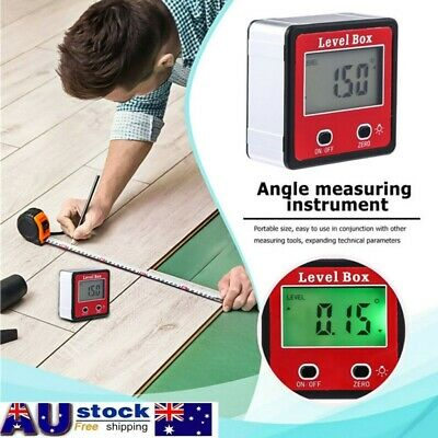 360° Digital LCD Level Box Inclinometer Protractor Bevel Gauge Angle Finder AU