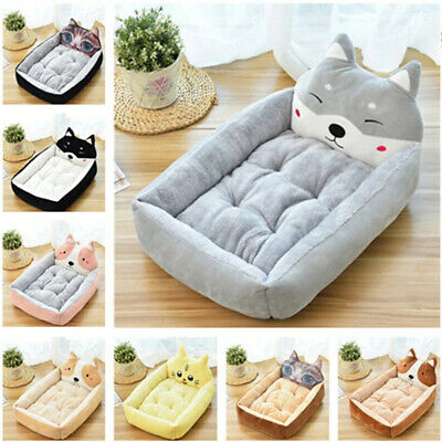 Pet Dog Cat Bed Pad Animal Shaped Kennel Sofa Warm Soft House Mat Large Mattress