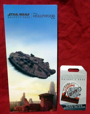 Disney Hollywood Studios Star Wars Galaxy's Edge 2019 Passholder Pin & Guide