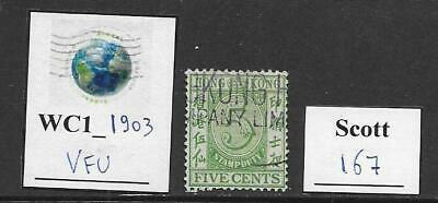 WC1_1903 HONG KONG. Valuable 1930 stamp. Scott 167. Used