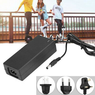 Power Adapter Charger Wheel Self Balancing Scooter Hoverboard Black Plug Install