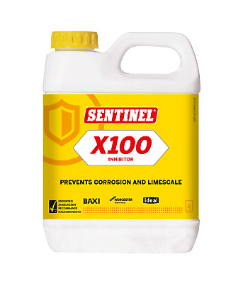 Sentinel X100 Central Heating Scale Inhibitor 1L Cleaner Reducer Leak Sealer