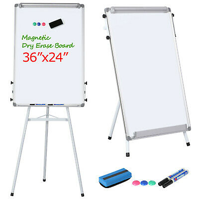 Adjustable Tripod Magnetic Writing Whiteboard Dry Erase Board W/Eraser White