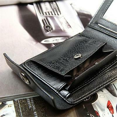 Mens PU Leather Wallet Large Coin Pocket Pouch Bifold Card Holder Purse Bag CS
