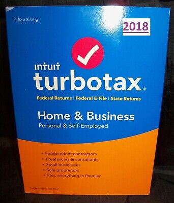 2018 Turbo Tax Home & Business 2018 Windows & Mac CD Federal & State returns New
