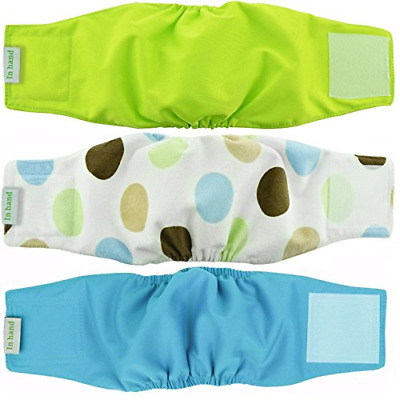 Pack of 3 Premium Reusable Belly Bands for Male Dogs Durable Male Comfy Doggie