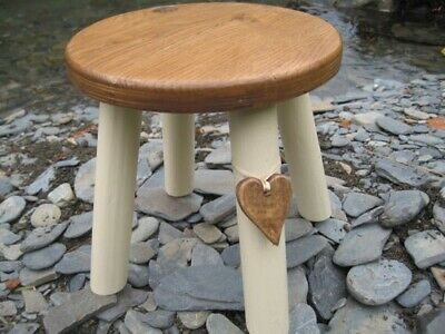 Oak Topped Milking Stool