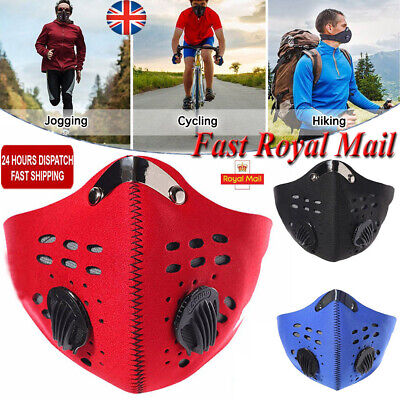 Men Women Face Mask Anti Dust Pollution Filter Cycling Motorcycle Bicycle Runing