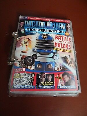 Dr Who Monster Invasion trading cards over 180 and binder
