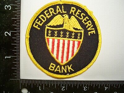 VINTAGE FEDERAL RESERVE Bank Security Patch Washington, DC Police Cheese  Cloth
