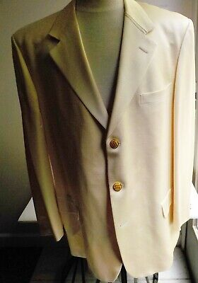 GIANNI VERSACE COUTURE Switzerland Wool Silk  Jacket 56R Fits US 46R  Butter