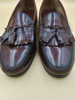 Vintage 70s Dexter Mens Genuine Leather Dress Shoes Size 11 Wide Usa Made Very R