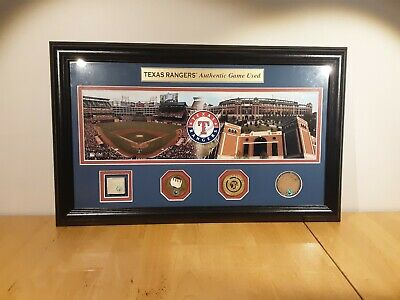 Texas Rangers Ballpark In Arlington Authentic Game Used Collection Number 058.