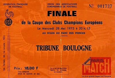 TICKET: EUROPEAN CUP FINAL 1975 Leeds United v Bayern Munich in Paris