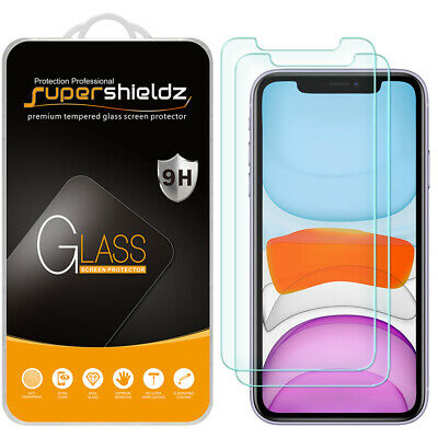 "2X Supershieldz Tempered Glass Screen Protector Saver for Apple iPhone 11 (6.1"")"