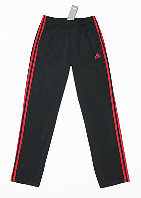 NWT ADIDAS Black-Red 3-Stripes Men's Track Pants Large pocket sweatpants jogger