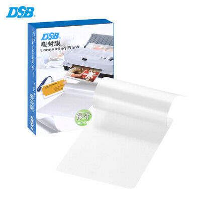 100x 80Mic Clear Letter Size Thermal Laminating Film Pouches 11x16cm Sheets J3I6