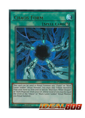YUGIOH x 3 Chaos Form - DUPO-EN049 - Ultra Rare - 1st Edition Near Mint