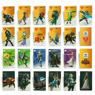 22PCS Zelda Breath of the Wild PVC NFC Tag Game Cards for Switch/Wii U UK Stock