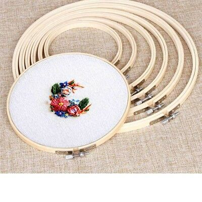 7Sizes/Set Bamboo Hand Embroidery Cross Stitch Ring Hoop Frames bamboo Wood