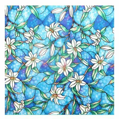 Static Cling Stained Glass Film Window Privacy Sticker Home Office Decor Applied
