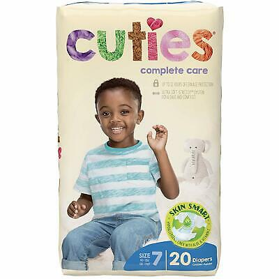 Cuties Complete Care Baby Diapers Size 7 Pack of 20
