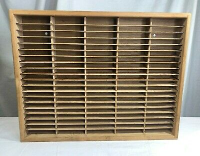 Napa Valley 100 Cassette Wall Mounted Wooden Holder Audio Cassette Storage