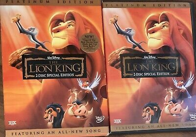 The Lion King [Two-Disc Platinum Edition] Disney With Slipcover