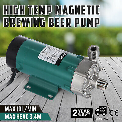 """220V 1/2"""" Food Grade Magnetic Drive Pump Stainless Steel Brewery Beer Home Brew"""
