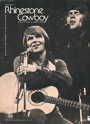 Glen Campbell original vintage sheet music scores in very nice condition