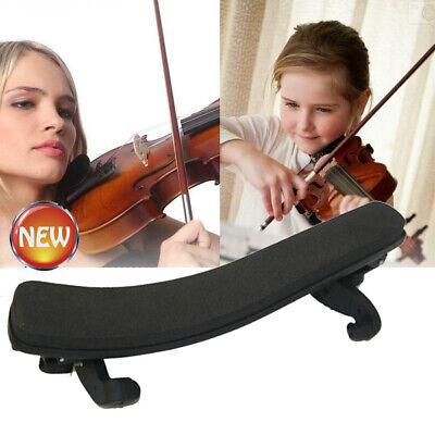 Violin Shoulder Rest Fully Adjustable Pad Support for Violin 3/4 4/4 Black US