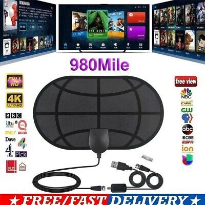 NEW 980 Mile Range Antenna 1080P TV Digital HD Skywire 4K Antena Digital Indoor