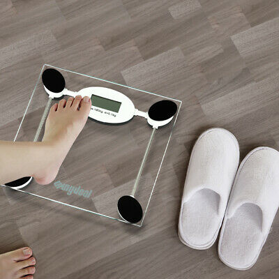 180KG Electronic Digital Body Fat Scale Scales Bathroom Monitor Backlit Glass
