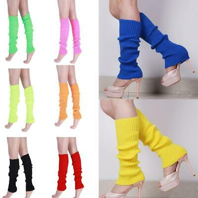 Women Leg Warmers Winter Knit Dance Party Crochet Legging Socks Costume 44c Top