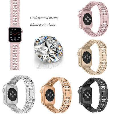 Rhinestone Stainless Steel Watch Wrist Band Strap For Apple Watch 38/42 mm
