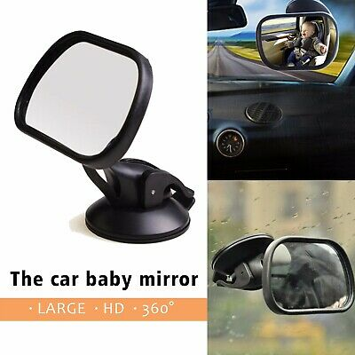 LARGE WIDE VIEW REAR Baby Child Car Seat SAFETY MIRROR ADJUSTABLE Headrest Mount