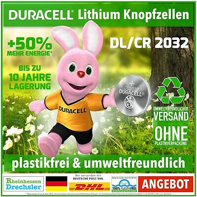 Duracell Specialty Lithium Knopfzellen DL2032 / CR2032 Unverpackt
