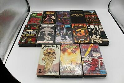 Lot Of 13 Heavy Metal, Hard Rock, Alt Rock, Music Video VHS tapes