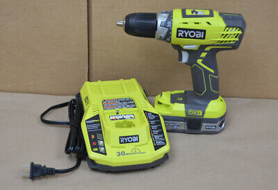 """Ryobi P208B 18v Drill Driver 1/2"""" with Battery and Charger - Free U.S. Shipping"""