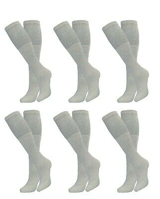 6-12-18 Pair Mens Big & Tall Athletic Sports Cotton Over The Calf Tube Socks