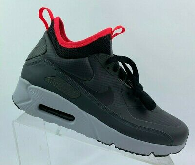 the best attitude e65d3 aefdb NIKE AIR MAX 90 Ultra Mid Winter Anthracite Black Solar Red 924458 003 Size  8