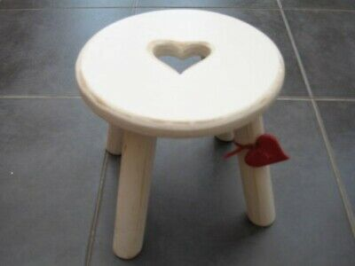 Shabby Chic Heart Milking Stool.
