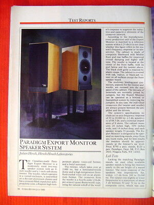ADVENT PRODIGY TOWER loudspeaker test review