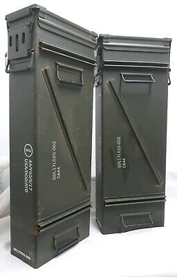 2-MORTAR AMMO CAN 120MM DOUBLE HINGE TOP LOADING 32 x 11 x 6 W/ FREE GIFT